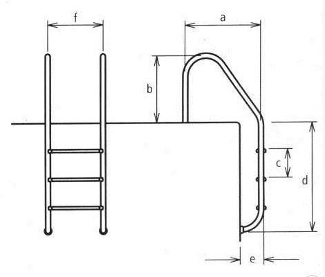 Лестница для бассейнов серии STANDART, 2 ступени